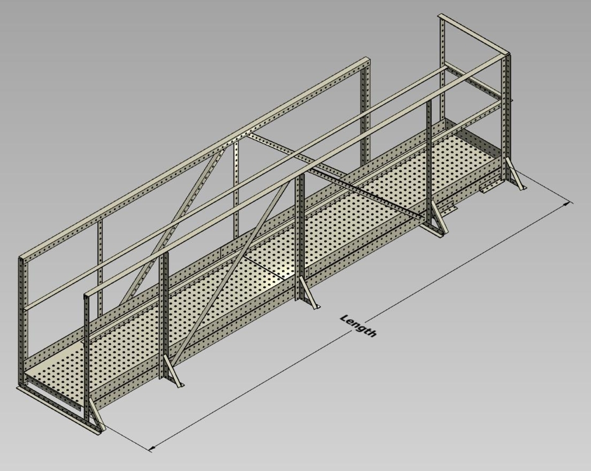 Wifco Steel Products Custom Fabricated Oil Tank Walkway Extensions