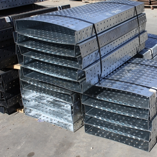 Galvanized Bundles of Wifco Steel Products Custom Fabricated Oil Tank Walkway Pans