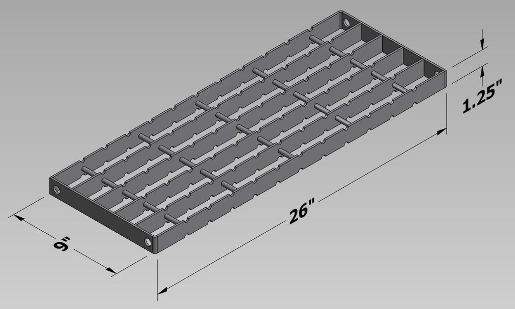 Wifco Steel Products Custom Fabricated Oil Tank Storage Stairway Grated Step for Assembly