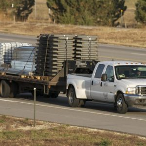 Wifco Steel Products Private Fleet Truck Carrying a Hot Shot Load (25,000 lbs)
