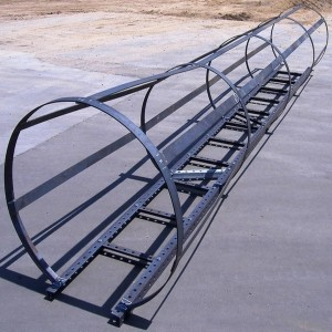 Wifco Steel Products Custom Fabricated Oil Tank Ladder With Safety Cage