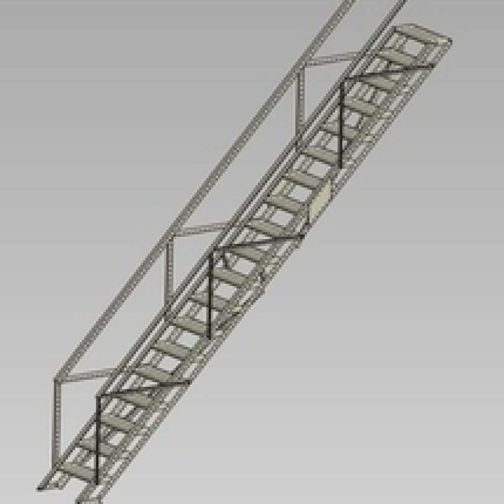 Wifco Steel Products Custom Fabricated Oil Tank Stairway
