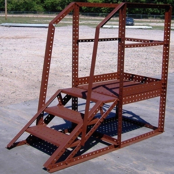Wifco Steel Products Custom Fabricated 3 Step Oil Tank-Stand