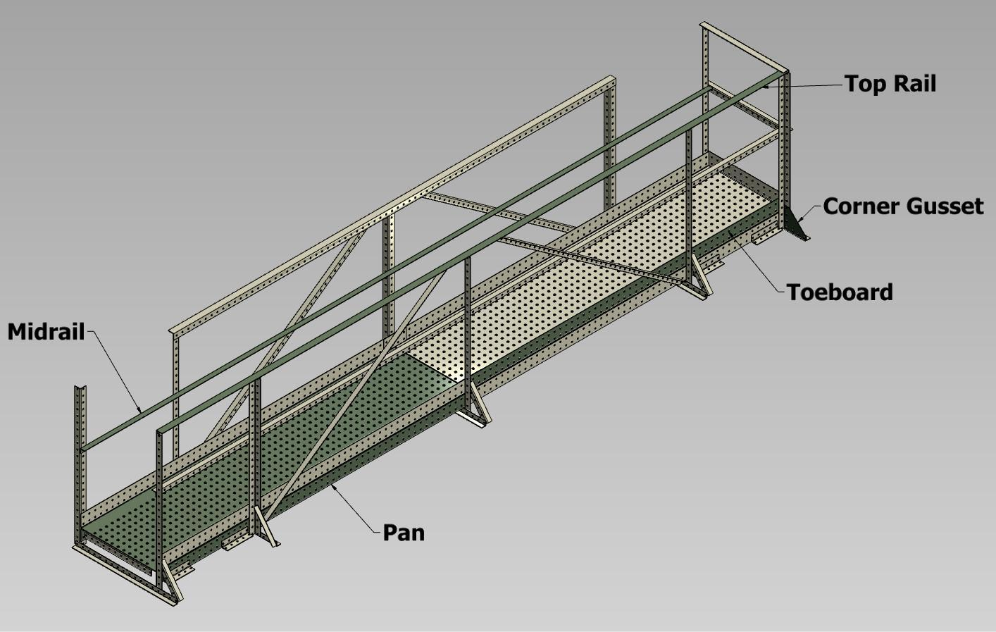 Wifco Steel Products Custom Fabricated Oil Tank Walkway Components