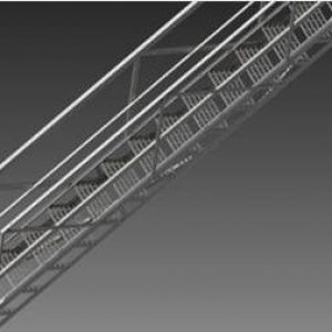 Wifco Steel Products Grated Stairway