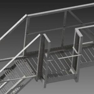 Wifco Steel Products Grated Surface Walkway Extension